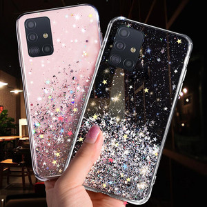 Phone Case for Samsung Galaxy S20 Ultra S10 S9 S8 Plus Note 10 Pro A51 A71 A81 A91 A10 A20 A30 A50 A70 Bling Glitter Star Cases(China)