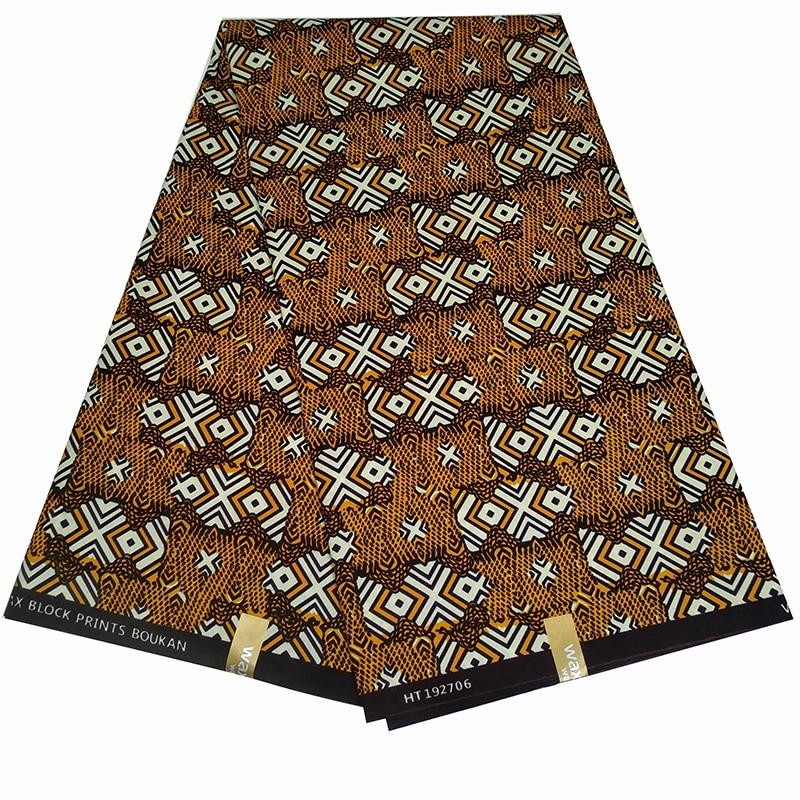6 Yards African Real Wax Prints Fabric 100% Polyester Nigerian Wax Fabrics For Women Wedding Dress Diy Making Z607