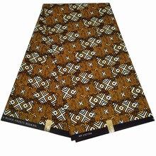 6 Yards African Real Wax Prints Fabric 100% Polyester Nigerian Wax Fabrics For Women Wedding Dress Diy Making Z607 2019 dutch wax print fabric ankara fabrics veritable african wax prints fabrics 100