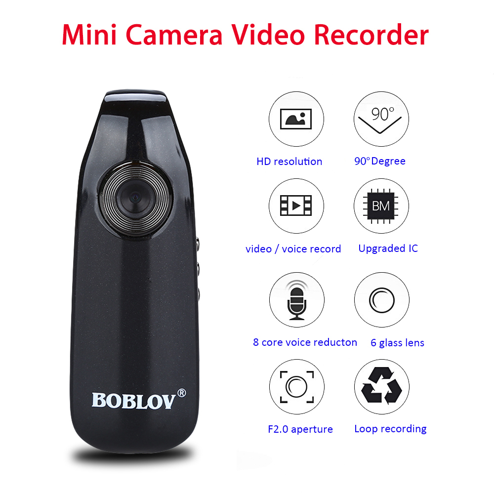 Boblov 007 Mini Digital Camera HD Law Enforcement Cam Magnetic Body Camera Motion Detection Snapshot Loop Recording Camcorder