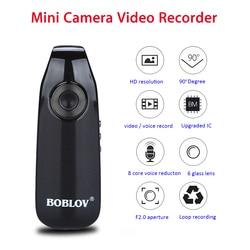 Boblov 007 Mini Digital Camera HD Law Enforcement Cam Magnetic Body Camera Motion Detection Snapshot Loop Recording Camcorder