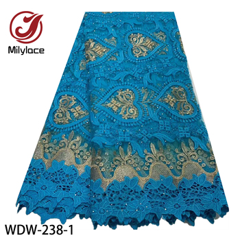 African Lace Fabric 2020 Embroidered Nigerian Laces Fabric Bridal High End French Tulle Lace Fabric for Wedding Party WDW-238