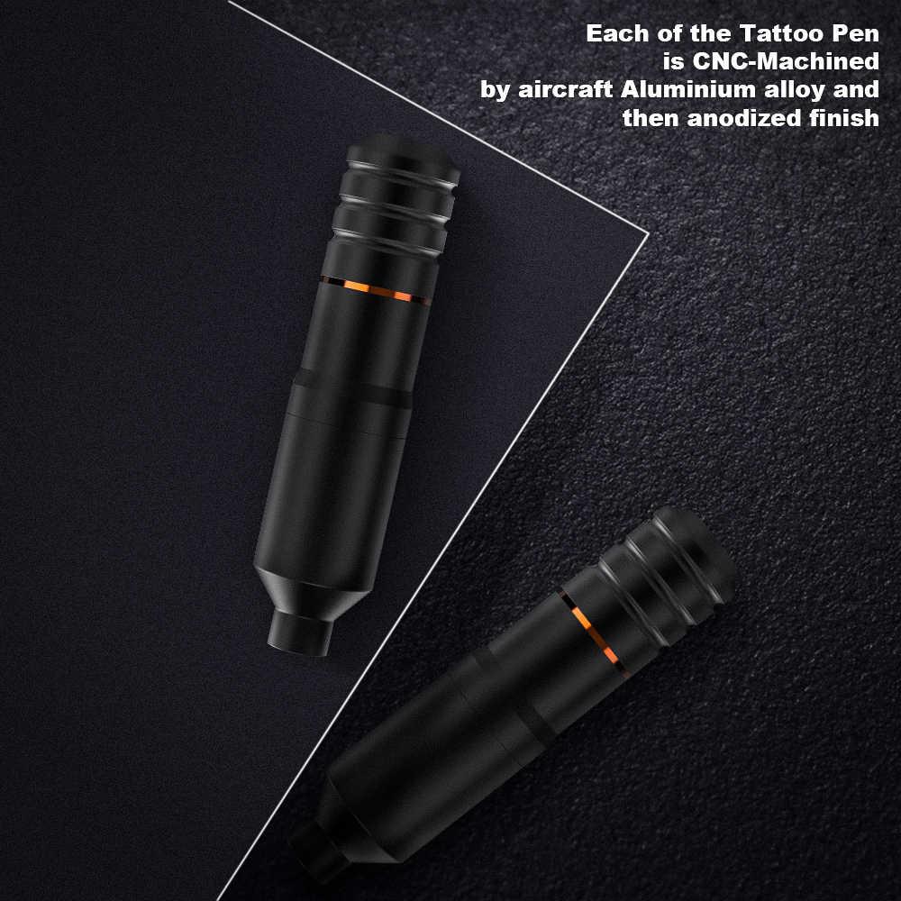 Dragonhawk yeni dövme seti seti Motor kalem makineli tüfek güç kaynağı İğneleri