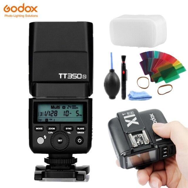 Godox TT350N 2.4 جرام HSS 1/8000s i TTL GN36 فلاش كاميرا Speedlite + X1T N الزناد الارسال لنيكون SLR كاميرا رقمية