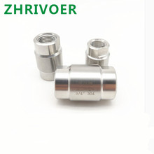 DN6 DN8 DN10 304 stainless steel high pressure check valves gas water one-way valve free shipping three way female thread ball valve g 1 4 dn6 stainless steel 304 high pressure high temperature 3 way ball valve