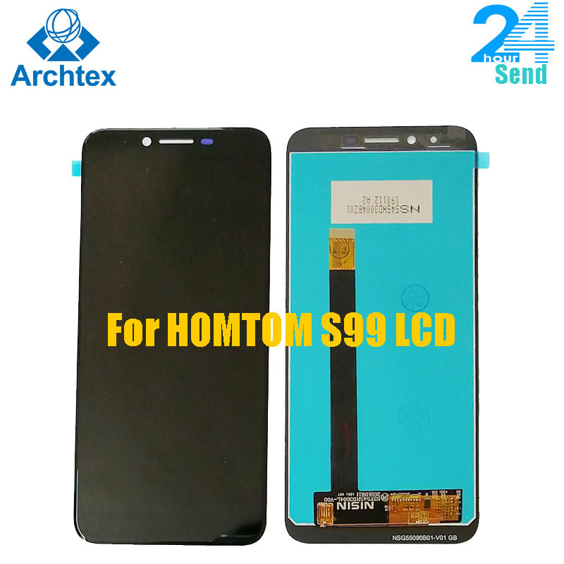 For Original HOMTOM S99 LCD Display +Touch Screen Digitizer Assembly+Tools For HOMTOM S99 5.5 Inch 18:9 Android 8.0 in stock(China)