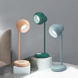 Prosta lampa LED na biurko z akumulatorem touch dimming czytanie ochrona oczu lampka nocna do sypialni pulpit lampka nocna usb w Lampy na biurko od Lampy i oświetlenie na