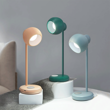 Simple LED rechargeable desk lamp touch dimming reading eye protection bedroom bedside desktop USB night light
