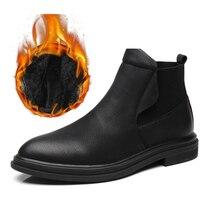 Boots Shoes Winter Men Casual Velvet Plus Ankle Warm