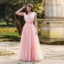 2019 Vintage Elegant Party Pink Dress Summer Fashion Sexy Deep V Neck Backless Lace Long Dress Women Evening Ladies Maxi Dress цена и фото