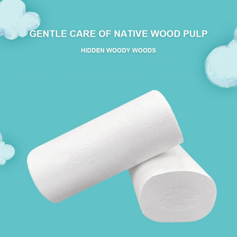 12rolls Toilet Roll Paper Tissue 5-layers Household Rolls Paper Without Adjunct Non-Smell Home Bathroom Kitchen Paper