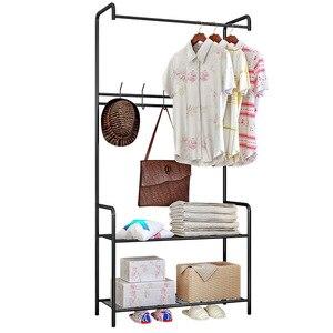 Image 5 - Giantex Kleerhanger Rack Floor Hanger Opslag Garderobe Kleding Droogrekken Porte Manteau Kledingrek Perchero De Pie