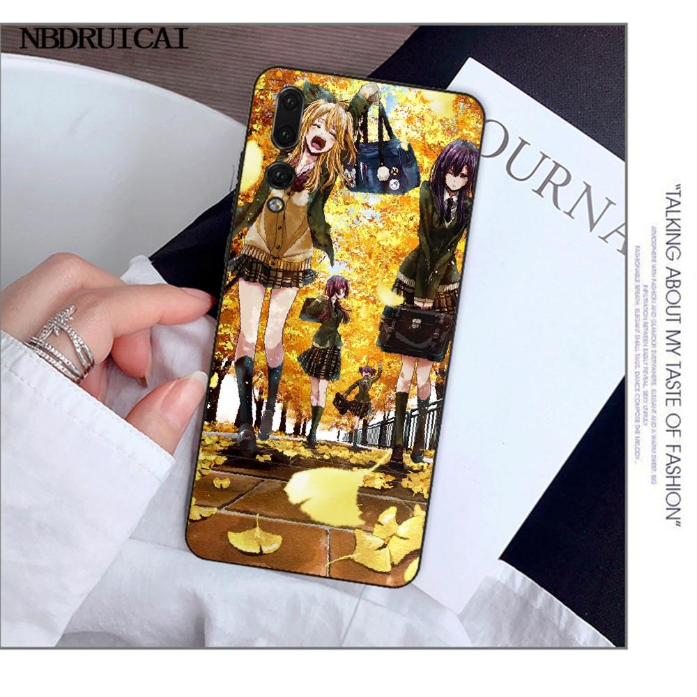 Nbdruicai Anime Lesbische Citrus Yuzu Aihara Mei Mooie Telefoon Case Cover Voor Huawei Y5 Y6 Y7 Y9 Prime 2019 Genieten 7 8 9 10Plus