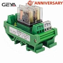 цена на GEYA NG2R 2 Channel Relay Module  12V 24V  1SPDT Relay 10A Plug in Type Omron Relay