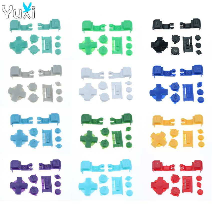 YuXi Multicolor Plastic Buttons For GameBoy Advance SP For GBA SP Buttons Set Full R L A B D-Pad Replacement Parts