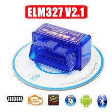 Mini ELM327 Bluetooth V2.1 OBD2 Car Diagnostic Tool Auto Scanner Mini ELM 327 For Android/Symbian For OBDII Code Reader Protocol(China)