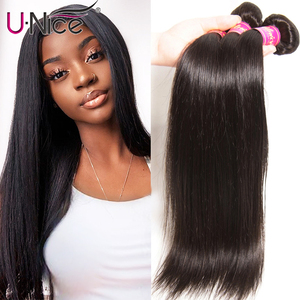 "UNICE HAIR Peruvian Straight Hair Bundles Natural Color 100% Human Hair Extensions 8-30"" Remy Hair Weave 1 PC Black Friday Deals(China)"