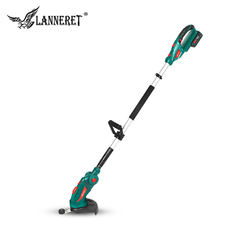 LANNERET 20V Cordless Grass Trimmer With 2.0Ah Battery And Charger Household Grass Cutter