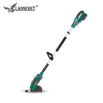 LANNERET 20V akülü çim makası ile 2.0Ah pil ve şarj cihazı ev çim kesici