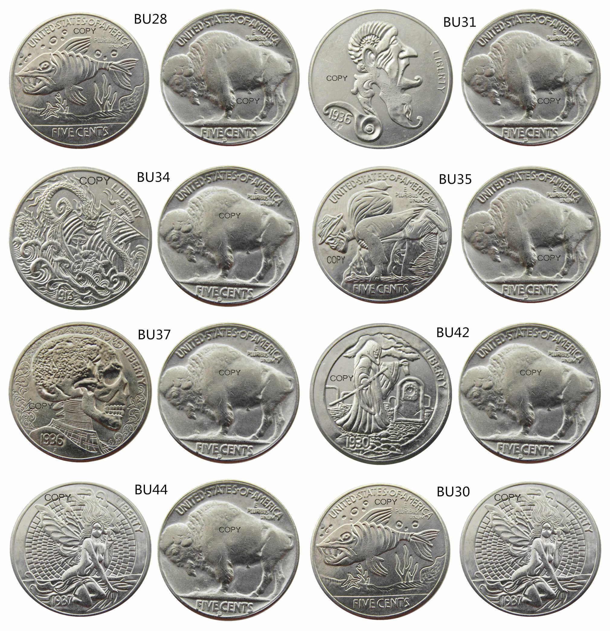 Nieuwe Stijl Mix 8 Stuks Hobo Nikkel Buffalo Nickel Zeldzame Creatieve Grappige Copy Coin
