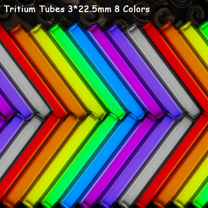 1PC 3*22.5mm Tritium Gas Tube Multi-color Self Glow 20 Years High-tech Products EDC Outdoor Camping Emergency Tools