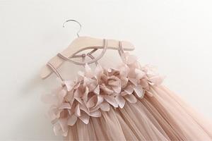 Летнее платье для маленьких девочек s Пышное Платье для принцессы без рукавов, с узором из платье-пачка для маленьких девочек одежда для детей пляжное платье bebes кукла трансфер до recien nacido #45