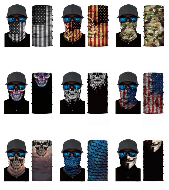 2020 Men Women 3D Joker Seamless Magic Neck Gaiter Face Shield Cycling Fishing Bike Ski Camping Bandana Halloween Headband Scarf