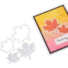 4pcs/set Maple Leaf Cutting Dies Leaves Metal Stencils Die Cut for DIY Scrapbooking Album Paper Card Embossing