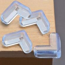 4 шт защитные накладки на углы стола из мягкого ПВХ для безопасности