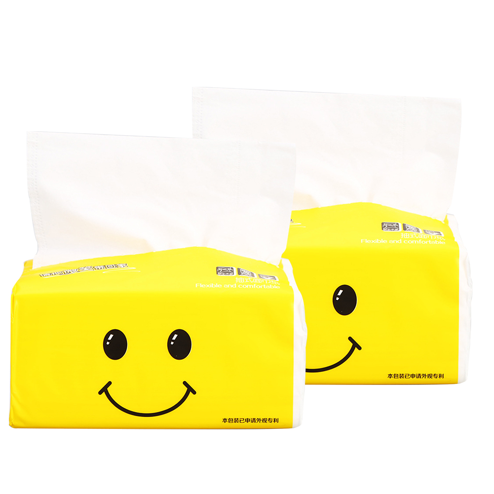 2packs Household Toilet Facial Tissues Soft Native Wood Pulp Pumping Kitchen Unscented Baby Available Adults Paper Towels