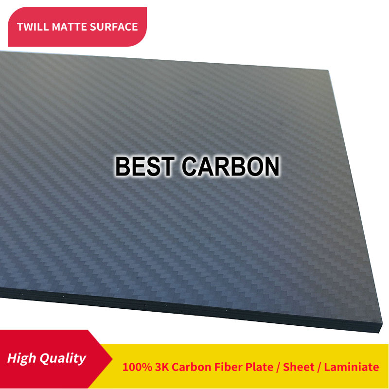 400 мм x 500 мм саржевая матовая поверхность углеродное волокно пластина, cfk пластина, жесткая пластина, лист, ламинат