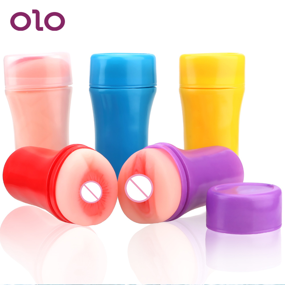 OLO Male Masturbation Cup <font><b>3D</b></font> Artificial Vagina Fake Anal Soft Tight Pussy Aircraft Cup Realistic Vagina Masturbator Men <font><b>Sex</b></font> Toys image