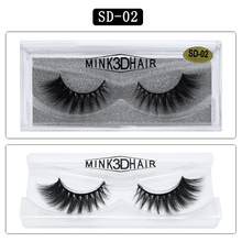 SD-02 GLAMAR 3D mink lashes super high quality thick false eyelashes full strip hand made  fake