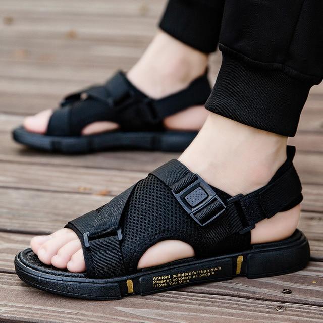 Men Sandals  Summer Soft bottom Sandals Men Slippers Light Beach Shoes Popular Men Student Sandals Adult Flat Shoes Casual Shoes