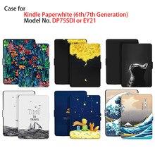 Kindle paperwhite caso 7th geração para kindle paperwhite (6th geração) modelo n° dp75sdi/ey21 com sono automático/wake