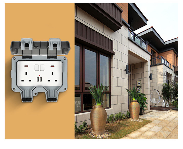 Image 5 - Weatherproof Electrical outlet power socket waterproof outdoor gounded wall socket IP66 16A-in Electrical Sockets from Home Improvement