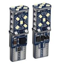 2 sztuk T10 W5W nowy Super jasne LED światła parkowania samochodu WY5W 168 501 2825 Auto Wedge Turn Side żarówki wnętrza samochodu czytanie lampa kopułkowa