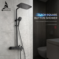 Shower Faucets Brass ORB Bathtub Faucet Round Tube Single Handle Top Rain Shower With Slide Bar Wall Water Mixer Tap WF 070903R
