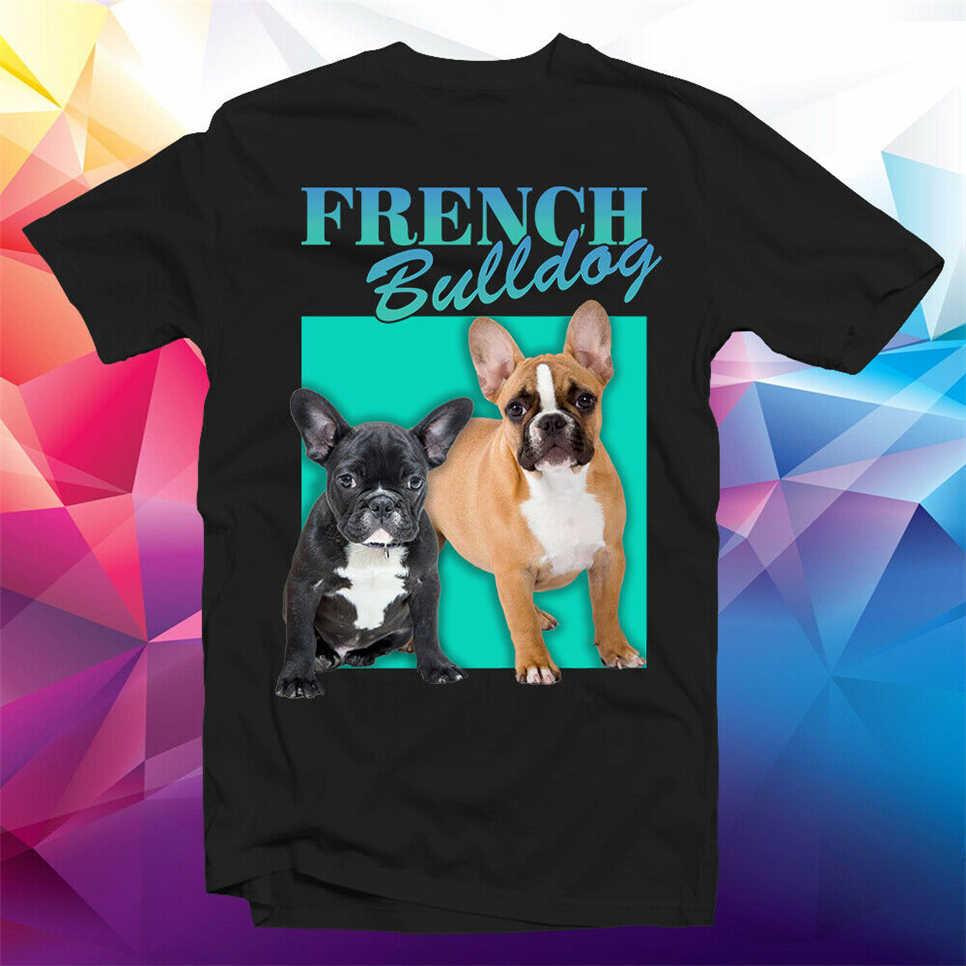Fransız Bulldog Frenchie Vintage koleksiyonu köpek severler Unisex siyah tişört Gh9 spor Tee gömlek