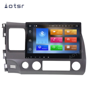 AOTSR Android 10 Car Radio For Honda Civic 2006 - 2011 Central Multimedia Player GPS Navigation DSP IPS 2 Din Stereo Autoradio image