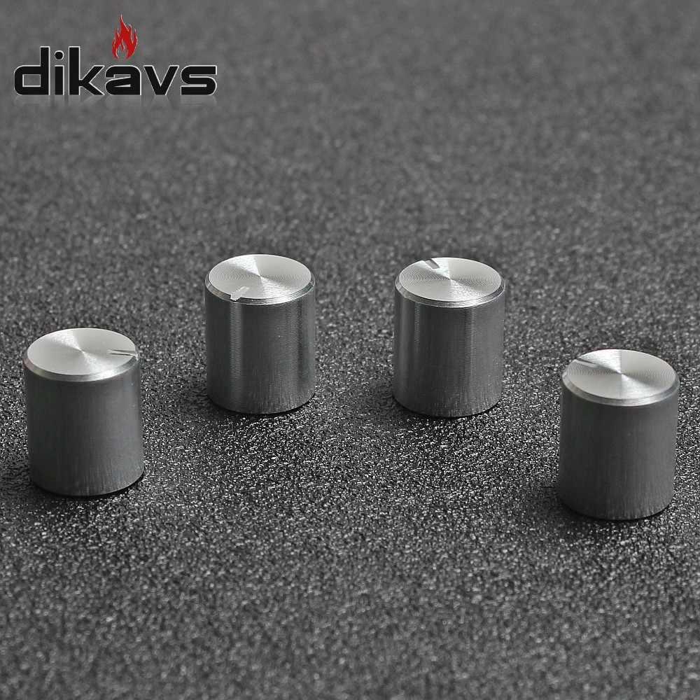 5 uds. Codificador rotatorio botones del potenciómetro 6mm interruptor de volumen del eje perilla pequeña 11x12,5mm-plata