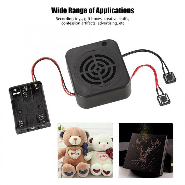 3W DIY ses kayıt kutusu mesaj kutusu modülü için net ses doldurulmuş hayvanlar/hediye/oyuncak/reklam
