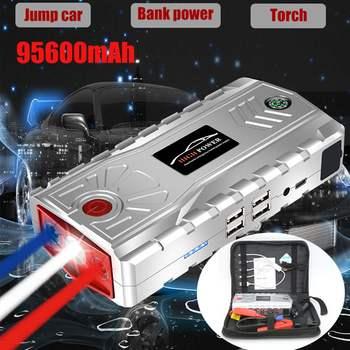 Type-C Multifunction Car Jump Starter 95600mAh 12V 4USB Power-bank Portable Battery Booster Pack for Petrol Diesel Engine
