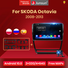 Junsun Android 10 Radio de coche AI Control de voz Video Multimedia reproductor de Audio navegación para SKODA Octavia 2 2008-2013 A5 no 2Din