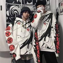 Anime Naruto Hoodies Streetwear Couple Winter Coat Fashion Loose Cartoon Sasuke Japan Hoodie Sweatshirt Unisex Hoodie Men Womens