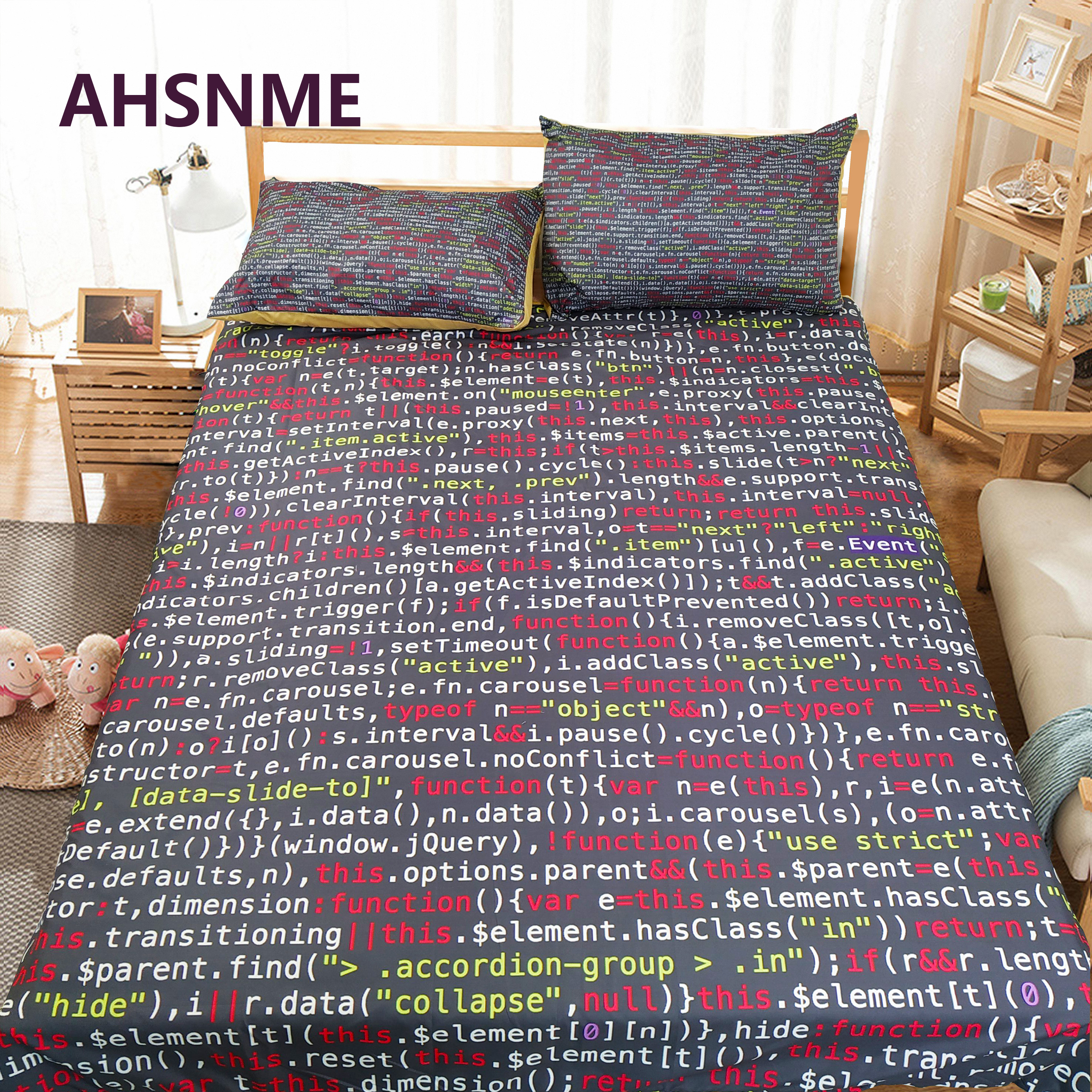 AHSNME Customizable Pattern Bedding Kit Program Graphics C Language Cover Cover Computer Program Number Quilt Cover
