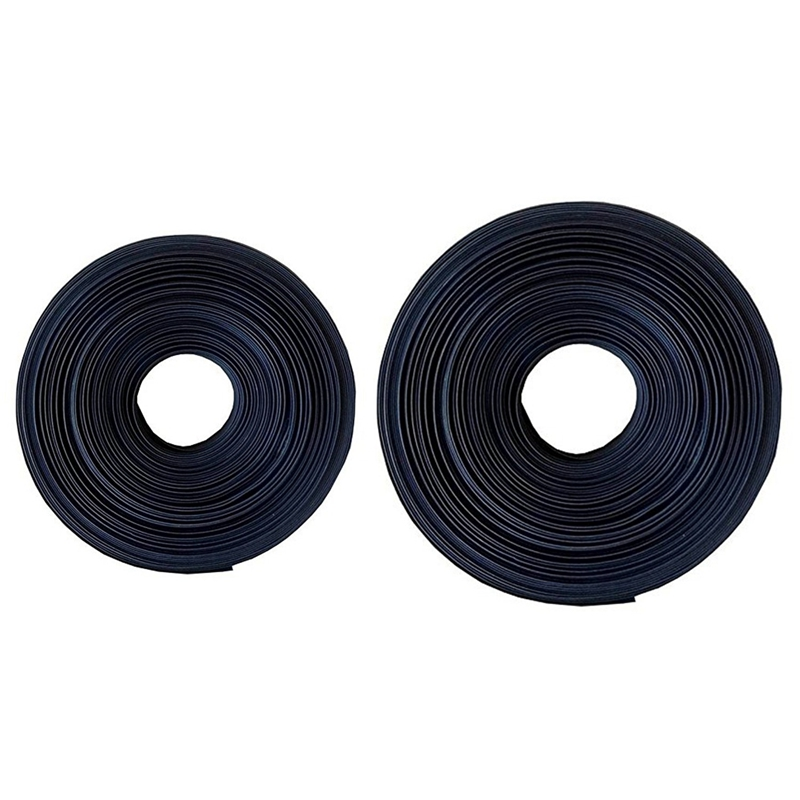 2 шт Черная термоусадочная трубка электрическая трубка Автомобильный кабель/провод термоусадочная трубка, 2 м (50 мм и 25 мм)