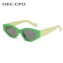 Oec cpo винтажные маленькие женские солнцезащитные очки «кошачий