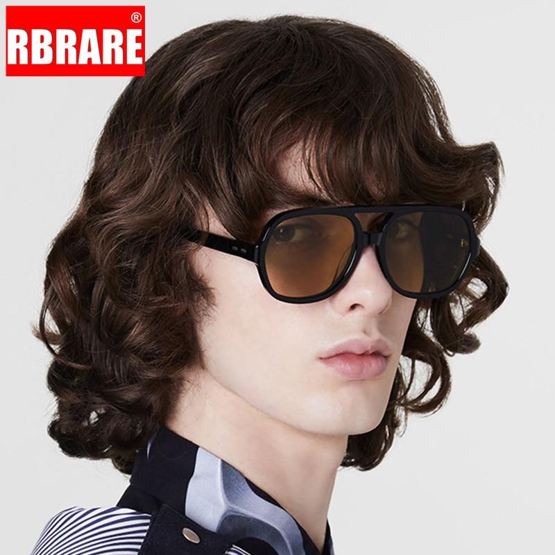 Солнечные очки RBRARE в стиле ретро для женщин, солнцезащитные аксессуары большого размера, в винтажном стиле, брендовые дизайнерские