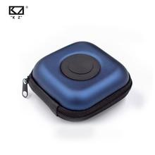 Funda KZ PU Original para auriculares, accesorios para auriculares, caja portátil, absorción de presión de impactos, paquete de almacenamiento, bolsa con logotipo